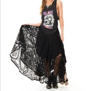 Spell & The Gypsy Collective Skirts - ❌HOLDRhiannon Black Lace Skirt